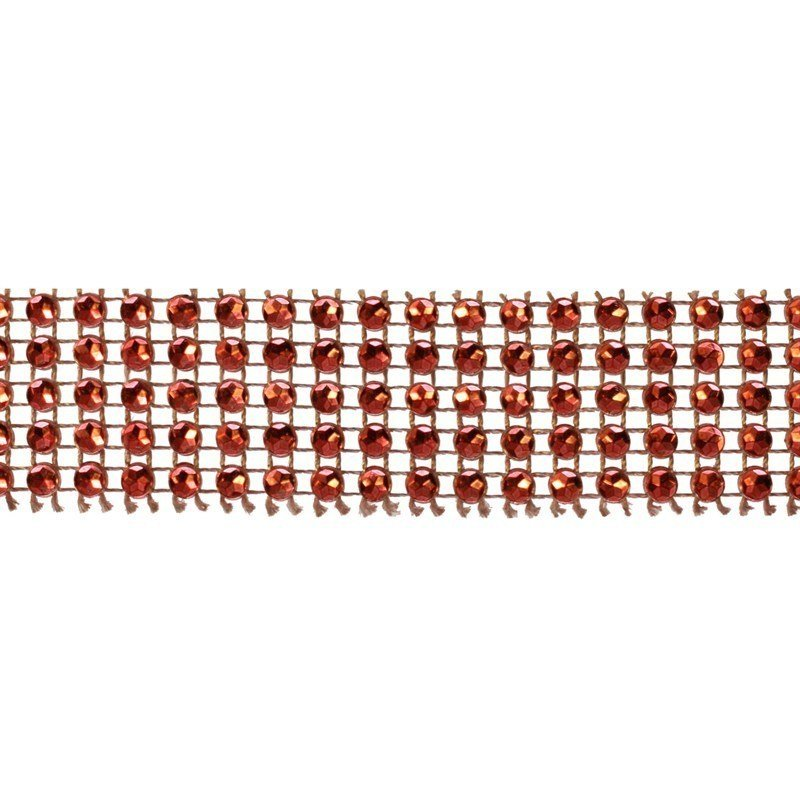 Red Diamante Trim 25mm - Large 5m