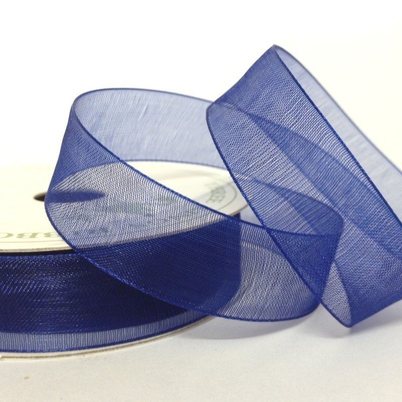 15mm Organza Deep Blue 10 Metre roll - Bakeworld.ie