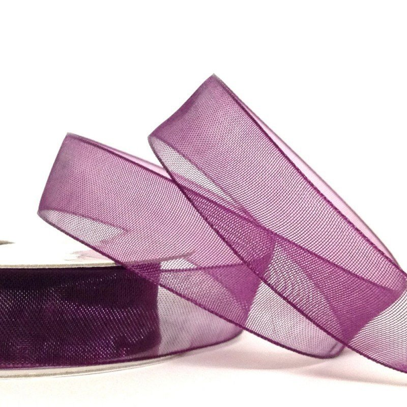 15mm Organza Plum 10 Metre roll - Bakeworld.ie