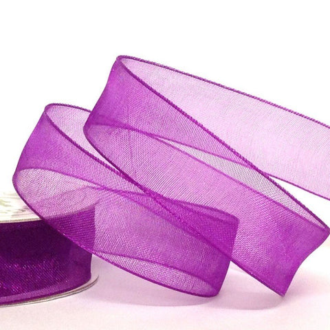 15mm Organza Purple 10 Metre roll - Bakeworld.ie