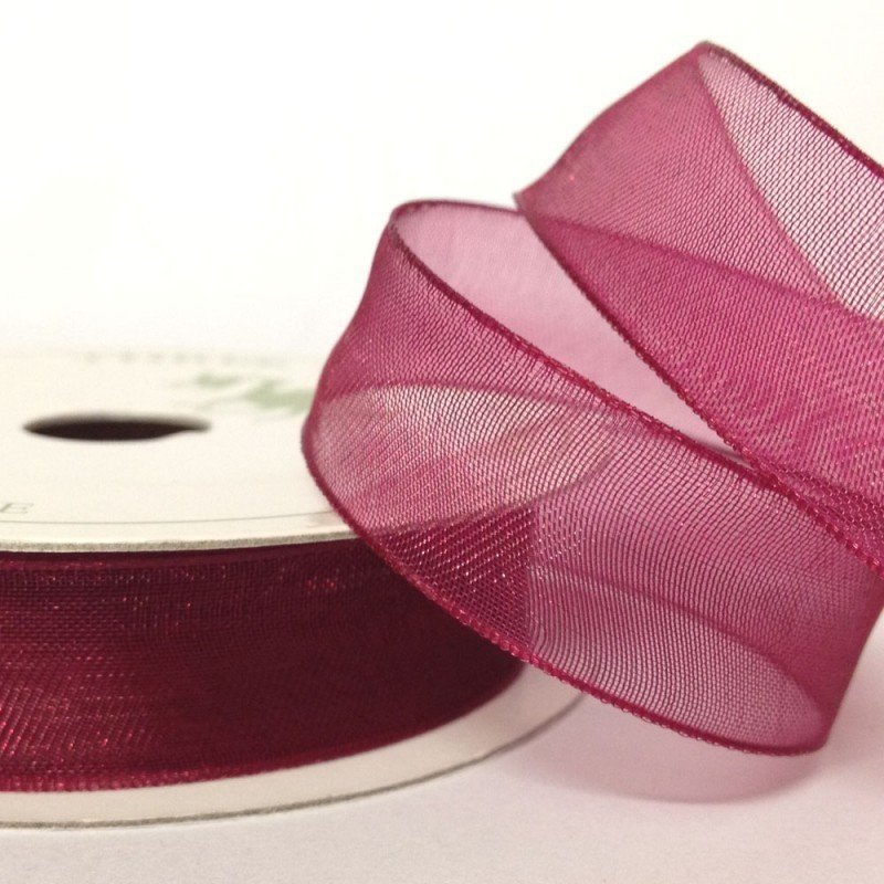 15mm Organza Wine 10 Metre roll - Bakeworld.ie