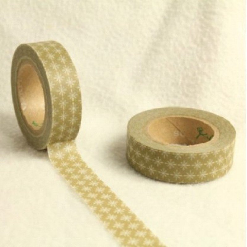 15mm Washi Gold Star 10 Metre roll - Bakeworld.ie