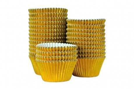 Professional Foil Muffin Cases - Gold 375pk