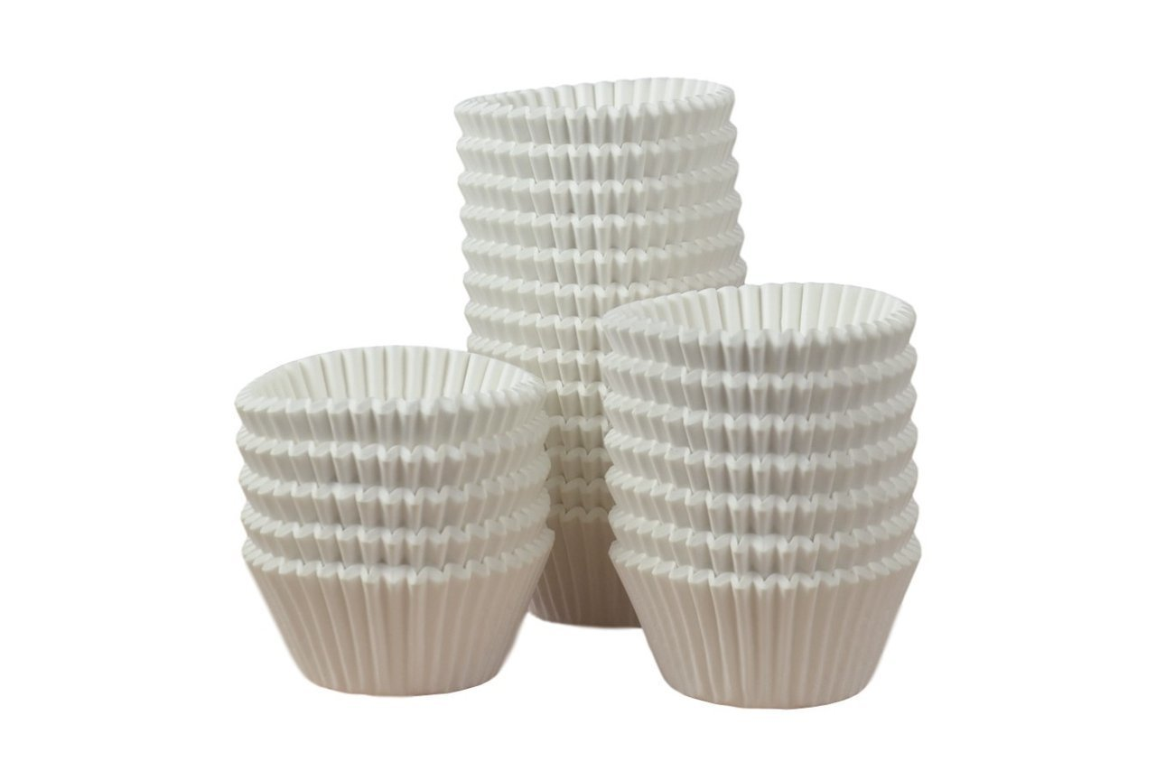 Professional Muffin Cases -White 500pk 44mm x 38mm