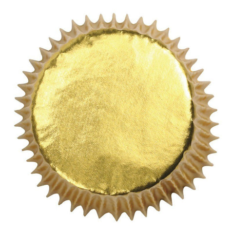 Gold Coloured Paper Lined Foil Baking Cases 45pk