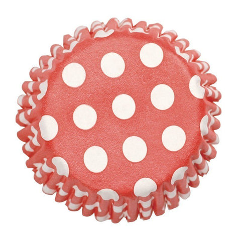 Red Spot Printed Baking Cases 54pk