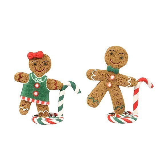 Cake Star Christmas Topper - Mr & Mrs Gingerbread - Bakeworld.ie