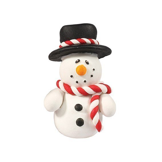 Cake Star Christmas Topper - Snowman with Hat - Bakeworld.ie