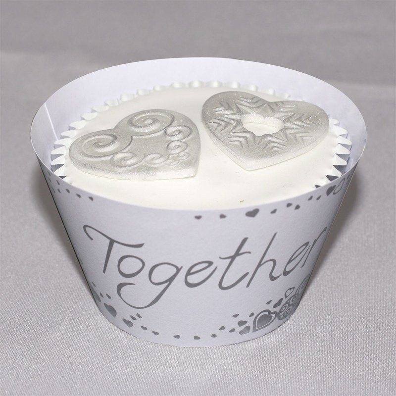 Together Forever Cupcake Wraps 12pk