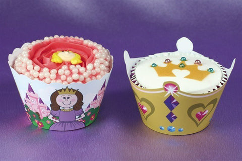 Little Princess Cupcake Wraps 12pk