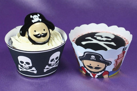 Little Pirates Cupcake Wraps 12pk