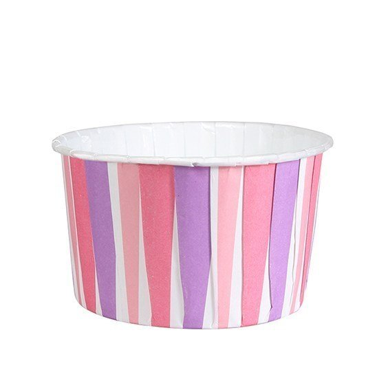 Pink Striped Baking Cups