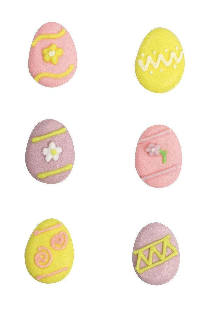 Assorted Easter Egg Sugar Pipings x 24 - Bakeworld.ie