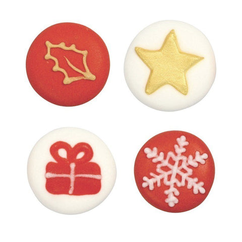 Christmas Icons Sugar Pipings x 20 - Bakeworld.ie