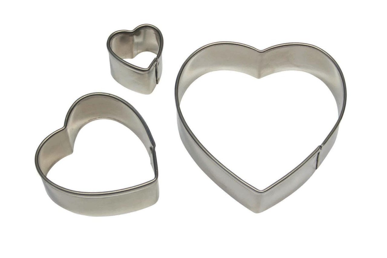 Stainless Steel Cutter: Heart 3 set