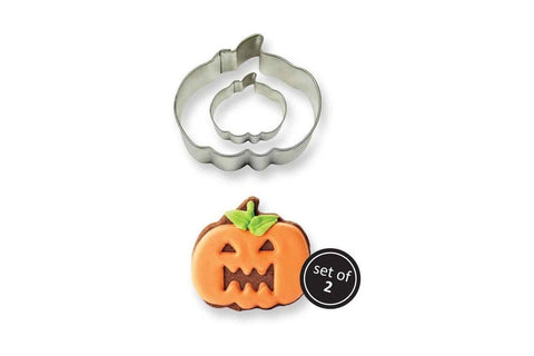 Stainless Steel Cookie & Cutter: Pumpkin