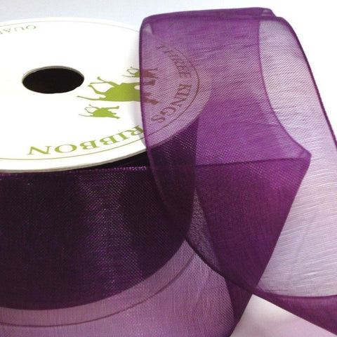 38mm Organza Plum 6 Metre roll - Bakeworld.ie