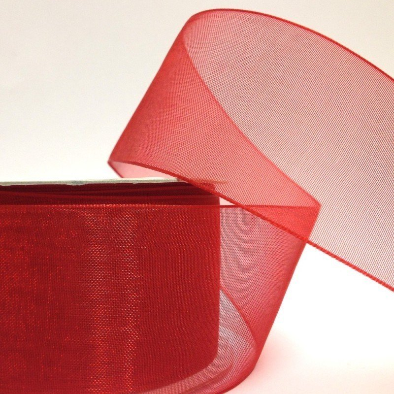 38mm Organza Red 6 Metre roll - Bakeworld.ie