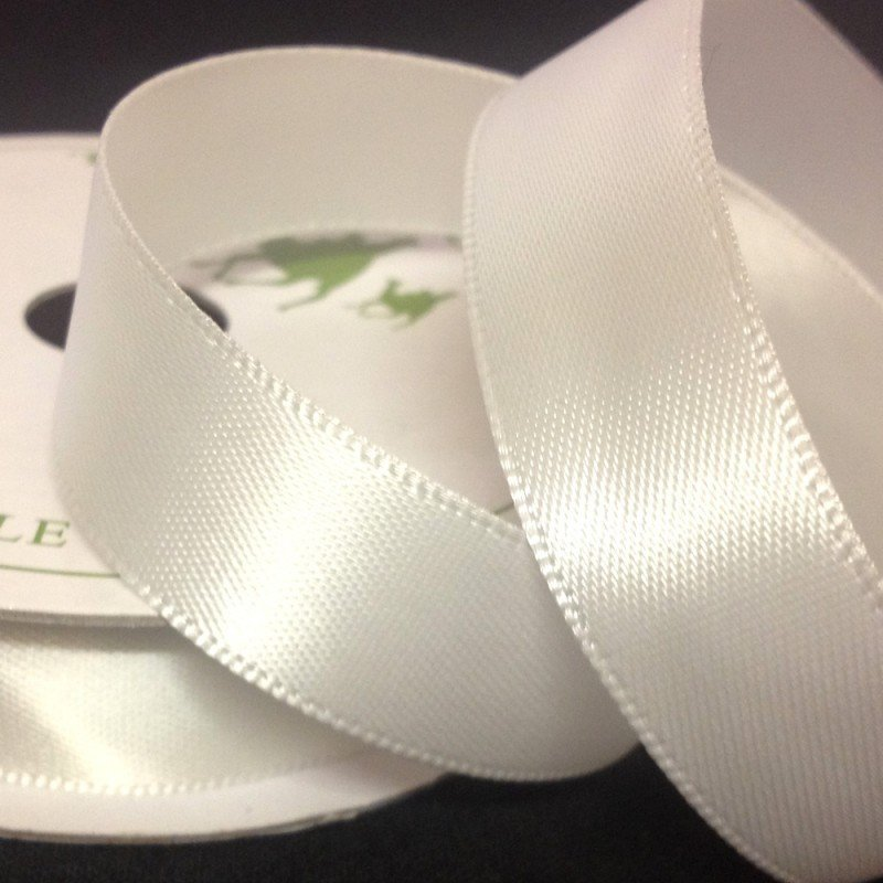3mm Satin Bride White 10 Metre roll - Bakeworld.ie