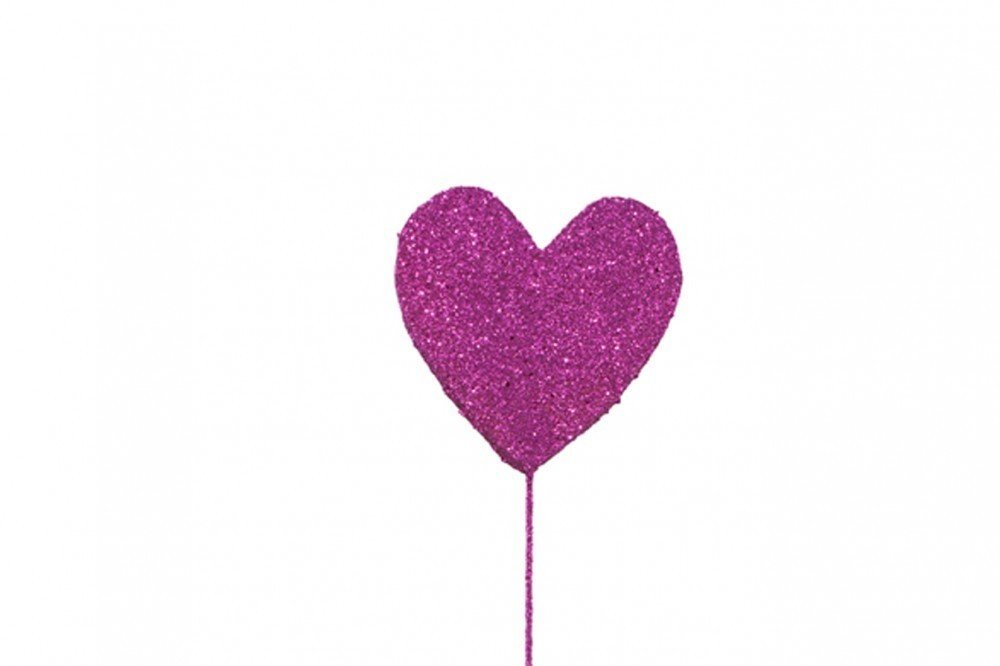 GLITTER PICKS: DEEP PINK HEART