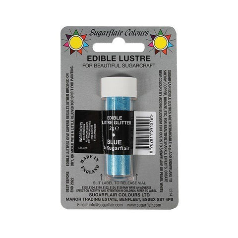 Sugarflair Edible Lustre Glitter - Blue