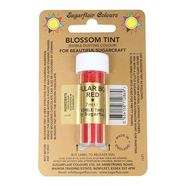 Sugarflair Blossom Tint Pillar Box Red