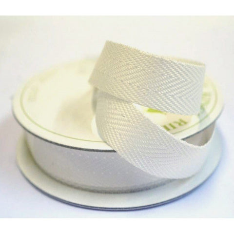 15mm Twill Tape Cream 5 Metre - Bakeworld.ie