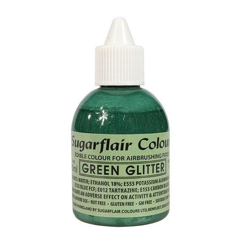 Sugarflair Airbrush Colour - Green Glitter 60ml