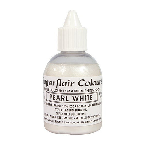 Sugarflair Airbrush Colour - Pearl White Glitter 60ml