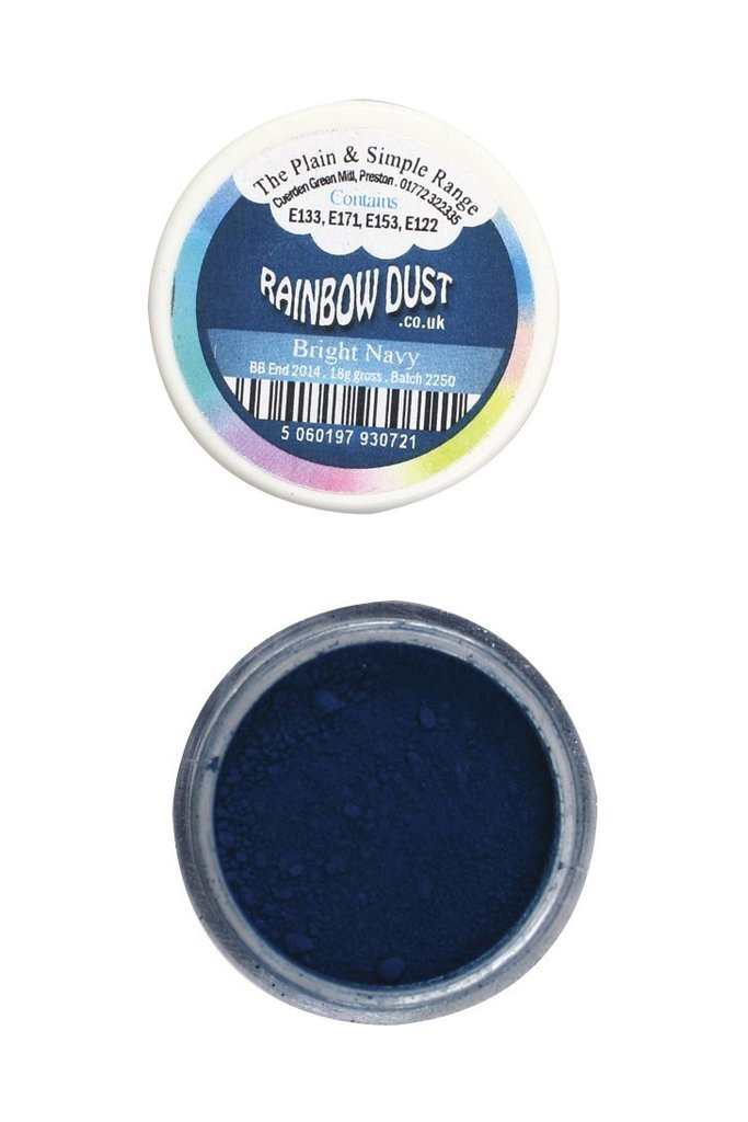 Rainbow Dust Plain and Simple Dust Colouring - Bright Navy Blue 4g