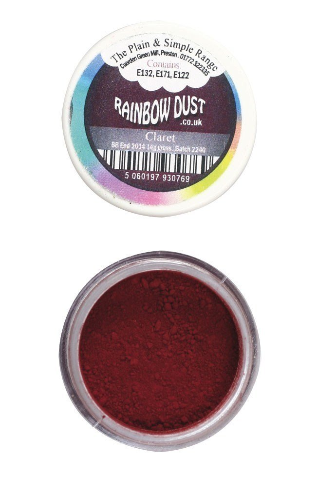 Rainbow Dust Plain and Simple Dust Colouring - Claret 4g