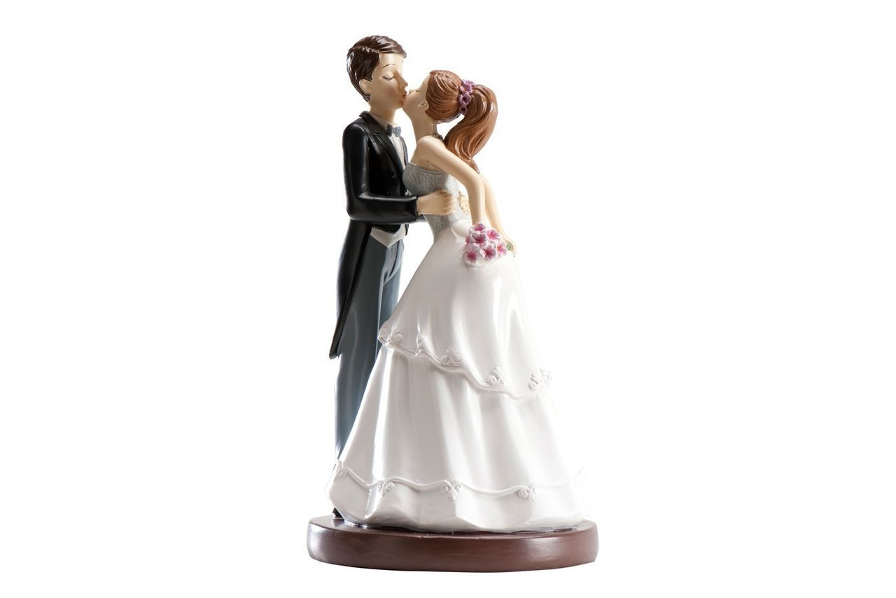 Resin Wedding Topper: Kissing