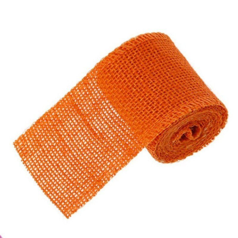 60mm Hessian Jute Orange x 2.0m - Bakeworld.ie