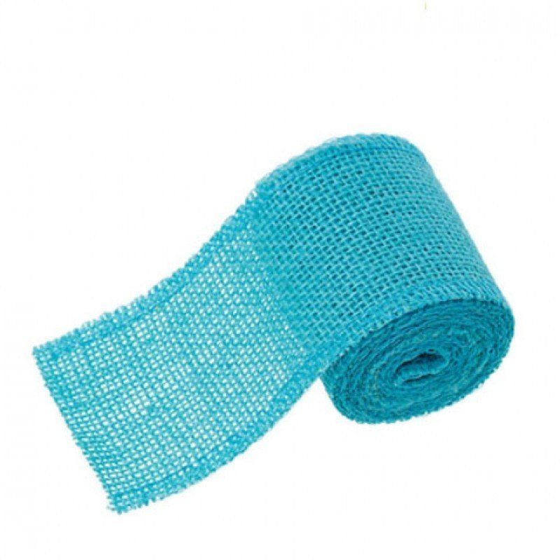 60mm Hessian Jute Light Blue x 2.0m - Bakeworld.ie