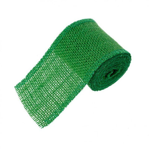 60mm Hessian Jute Green x 2.0m - Bakeworld.ie