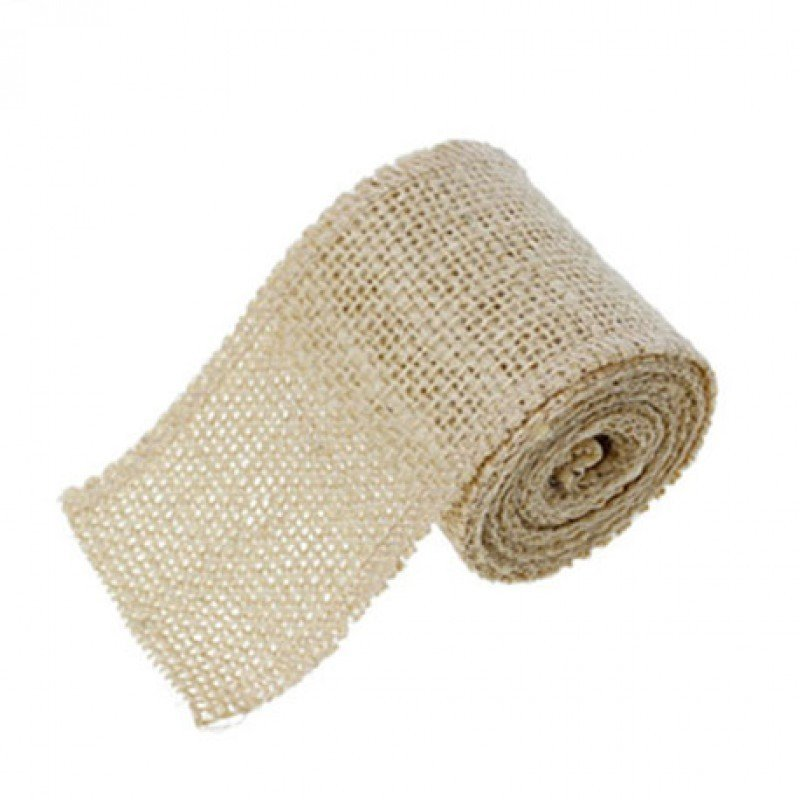 60mm Hessian Jute Beige x 2.0m - Bakeworld.ie