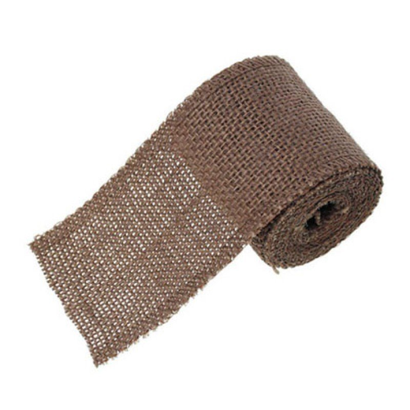 60mm Hessian Jute Brown x 2.0m - Bakeworld.ie
