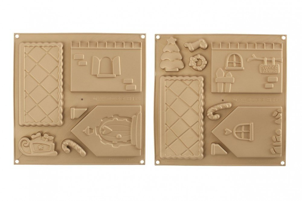 Gingerbread House Mat 2 Set
