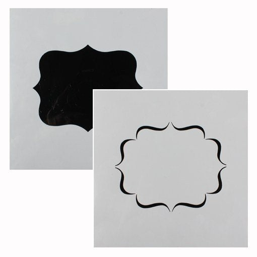 Cake Star Plaque Stencil - 2 Designs - Bakeworld.ie