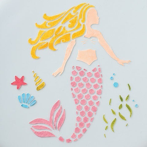 Cake Star Mermaid Stencil - Bakeworld.ie