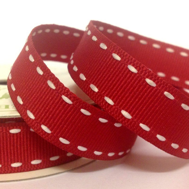 15mm Side Stitch Ribbon Red 4 Metre - Bakeworld.ie