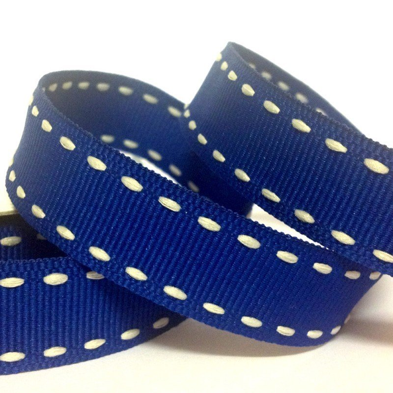 15mm Side Stitch Ribbon Cobalt Blue 4 Metre - Bakeworld.ie