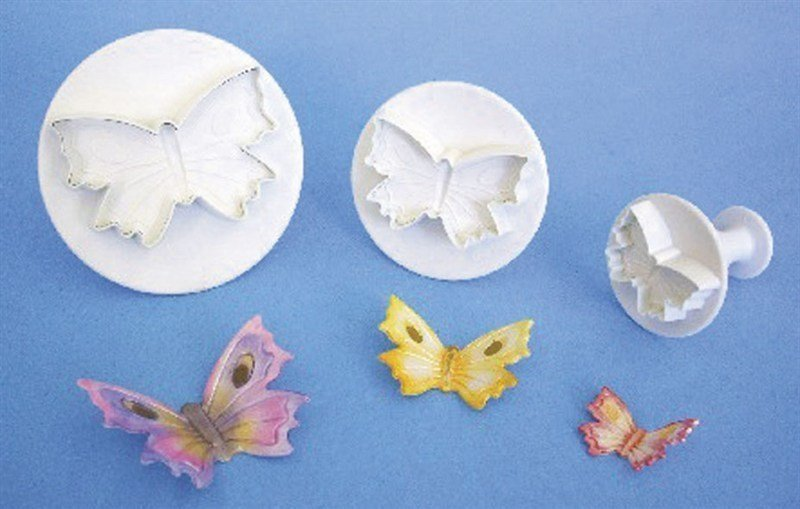 3 Set Butterfly Plunger Cutters - Bakeworld.ie