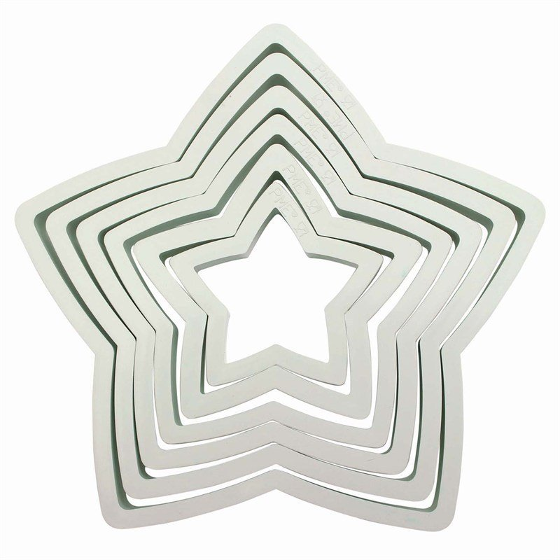 PME Large Star Cutter Set 6 piece