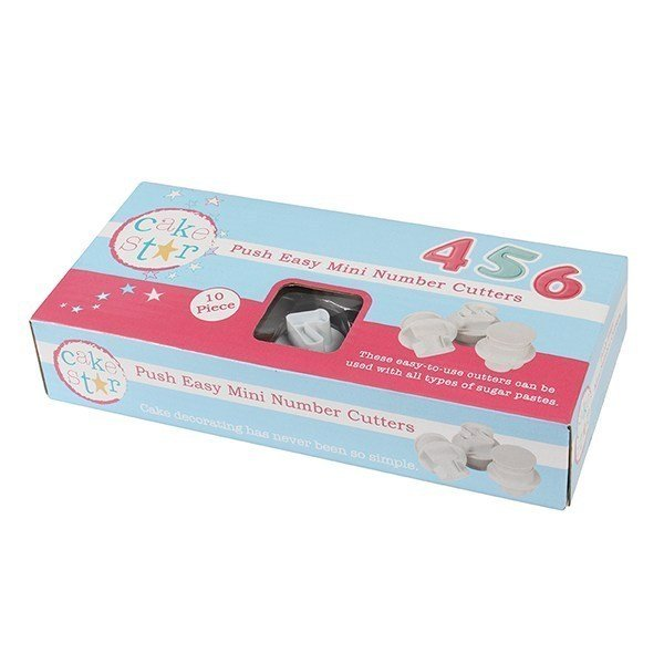 Cake Star Push Easy Cutters - Small Numbers - 10 Piece - Bakeworld.ie