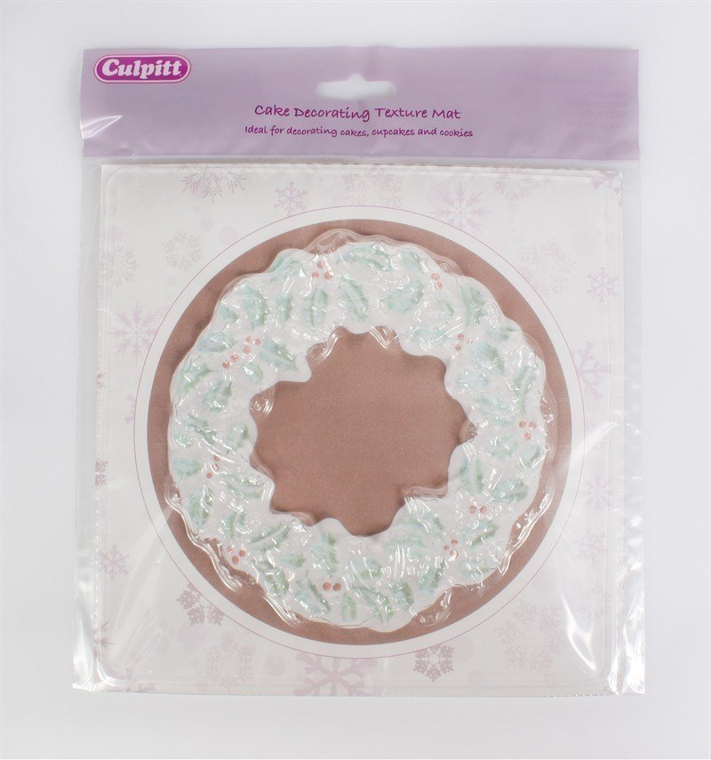 Christmas Wreath Texture Mat - Bakeworld.ie