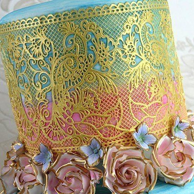 Claire Bowman Fantasia Cake Lace Mat - Bakeworld.ie