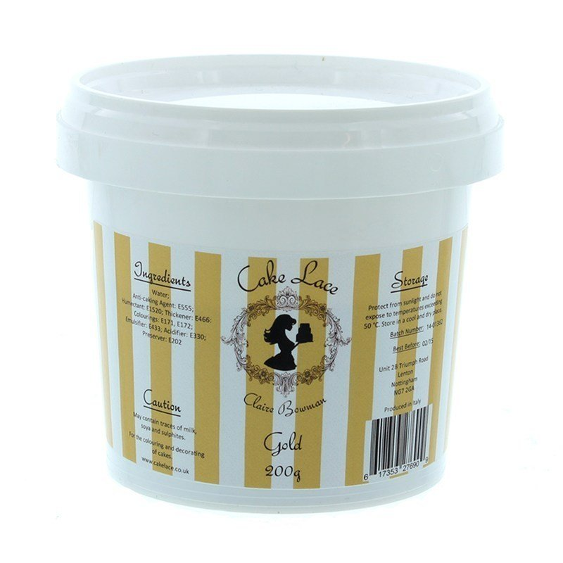 Claire Bowman Gold Cake Lace 200g - Bakeworld.ie