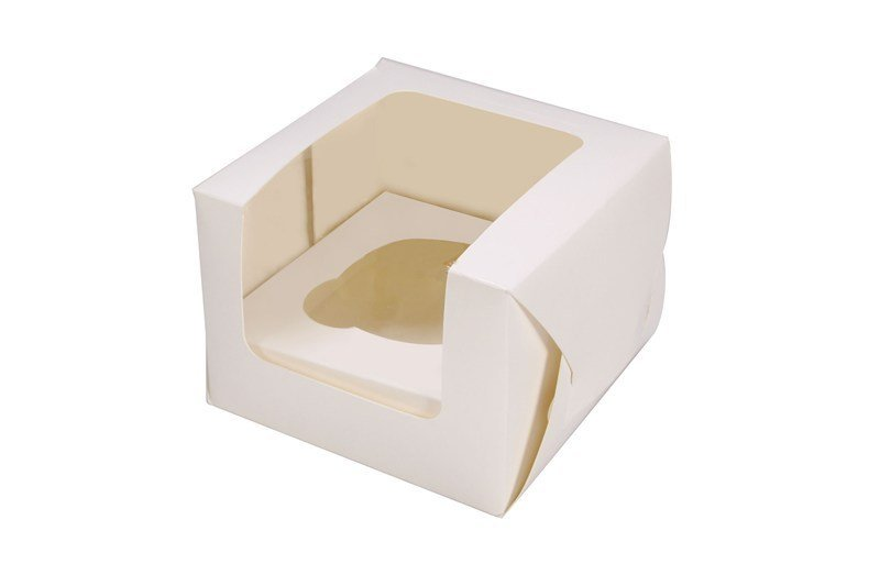 White Single Cupcake/Muffin Box