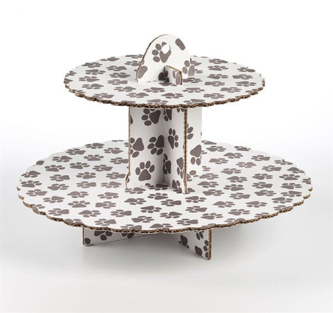 2 Tier Pawprints Cupcake Stand - Bakeworld.ie